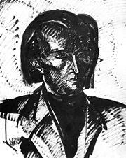 Nemes Lampérth: Kassák Lajos portréja (1917)