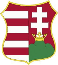 Kossuth-címer, leveles koronával