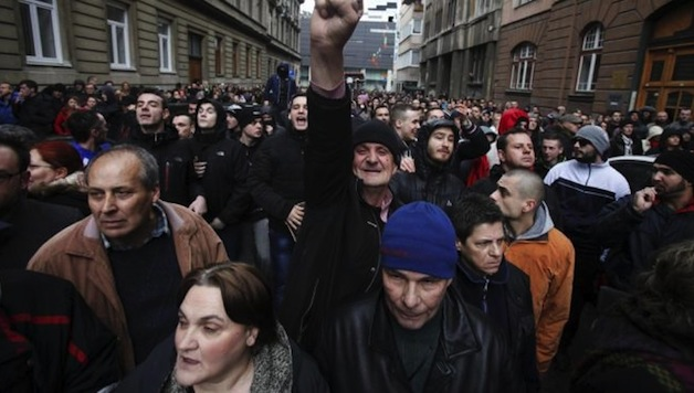 Bosnia Protesters