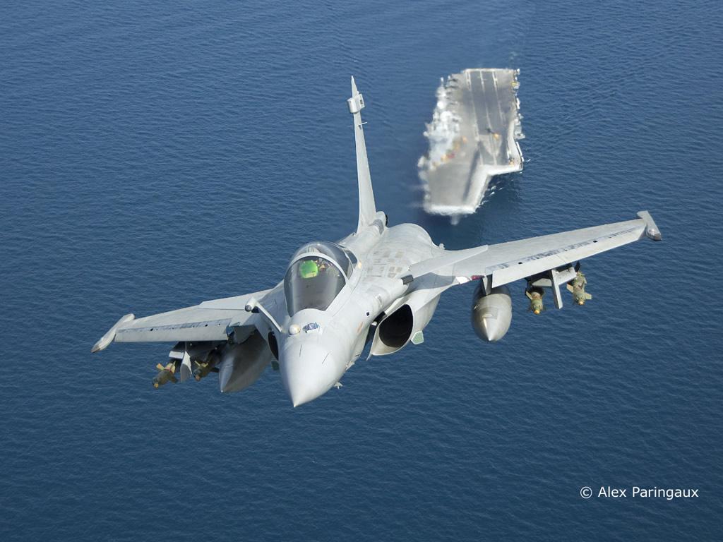 AIR Rafale M Over CVN Charles de Gaulle Dassault lg
