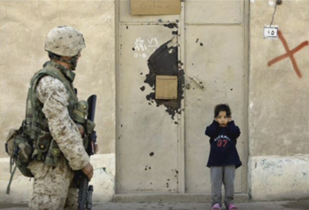 child in war