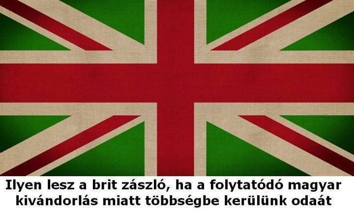 hungarian UK flag
